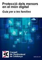 Guia famílies protecció dels menor en el món digital